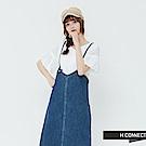 H:CONNECT 韓國品牌 女裝-細肩牛仔洋裝-藍