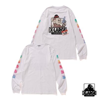 XLARGE LS TEE RAINBOW KEITH長袖T恤-白