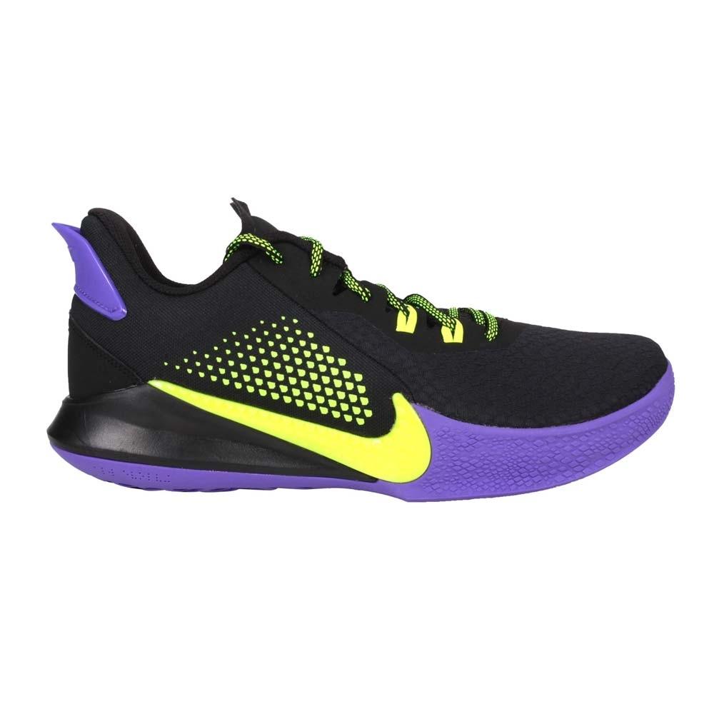 NIKE MAMBA FURY EP 男籃球鞋-KOBE 黑曼巴 XDR CK2088003 黑紫螢光綠