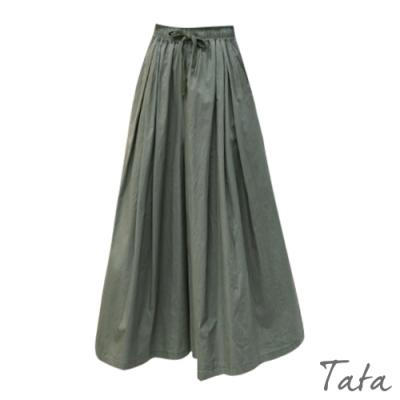 素色繫帶寬褲 共二色 TATA-F
