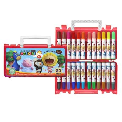 雄獅 奶油獅24色透明盒彩色筆BLM-24 - 紅