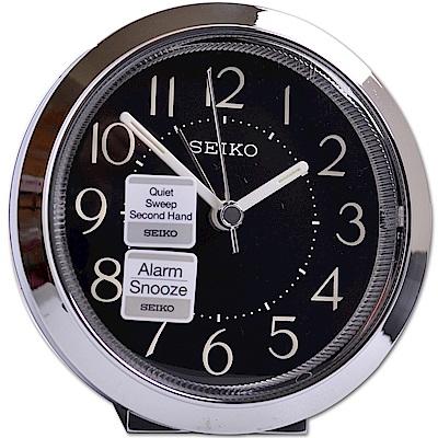 SEIKO 精工 小型居家美學 夜光 滑動式秒針 靜音鬧鐘 (QHE146A)