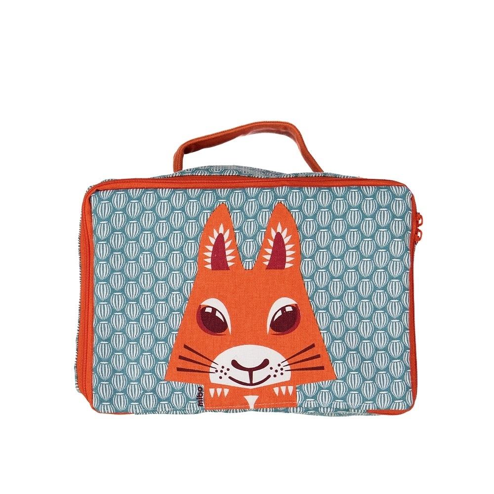 【COQENPATE】法國有機棉布包-方方兒拎出門- 松鼠