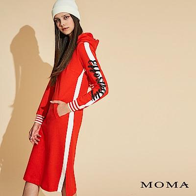 MOMA 運動連帽針織洋裝