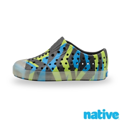 native 大童鞋 JEFFERSON 小奶油頭鞋-淘氣黑