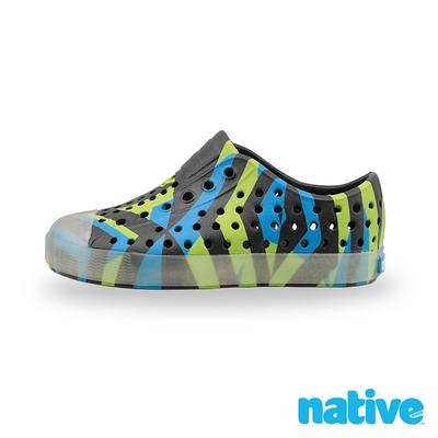 native 小童鞋 JEFFERSON 小奶油頭鞋-淘氣黑