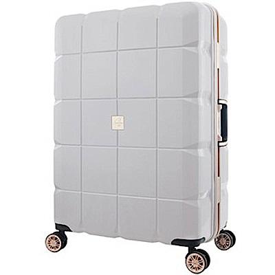 日本 LEGEND WALKER 6023-60-24吋 PP輕量行李箱 白色