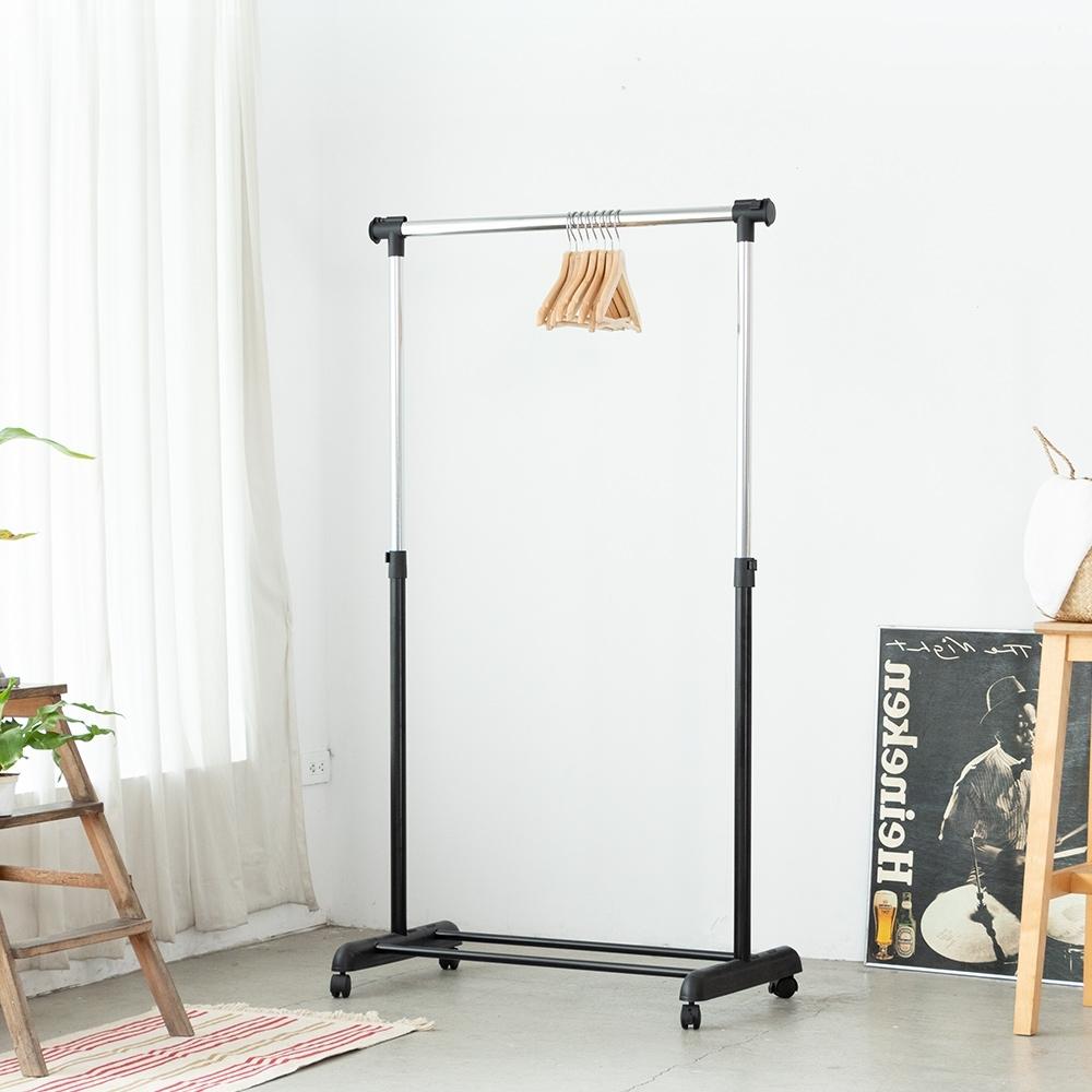 Amos-日系簡約單桿伸縮吊衣架-曬衣架