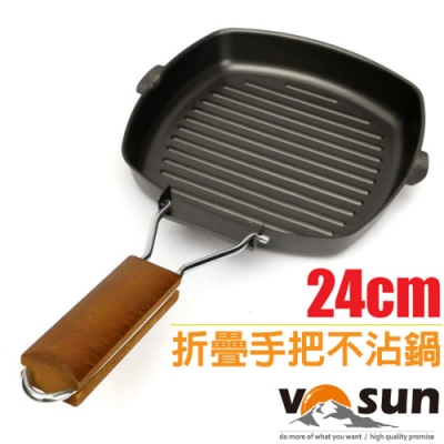 VOSUN MAGIC 魔術師 精鐵10吋不沾黏平底煎鍋(24cm_可電磁爐)