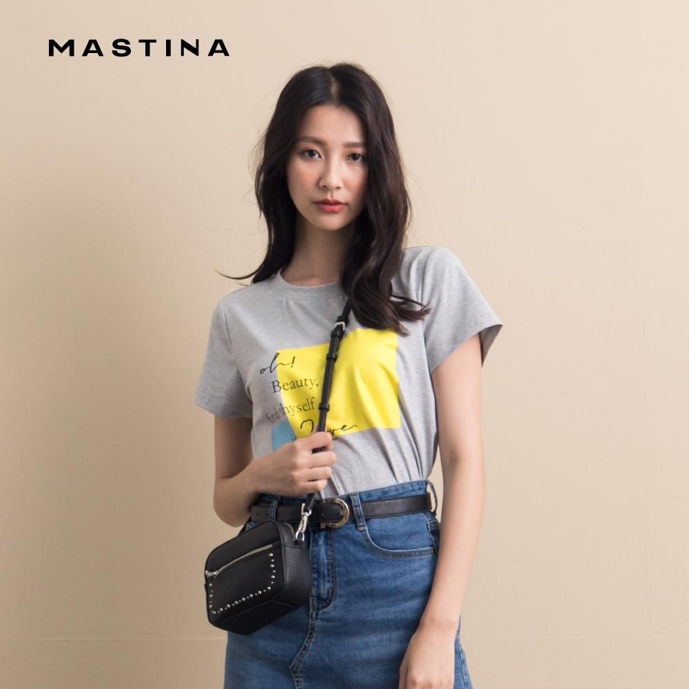 【MASTINA】帥氣亮色英文字母-上衣(二色)