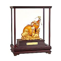 福祿生財 葫蘆金豬 賺翻天 純金箔雕塑大櫥窗