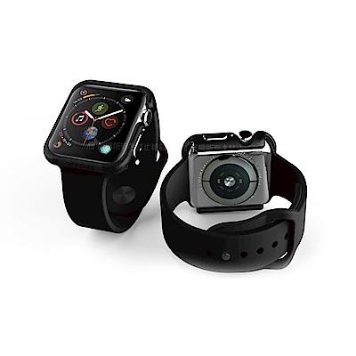 刀鋒Edge系列 Apple Watch Series 4 鋁合金雙料保護殼 經典黑