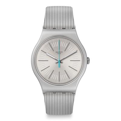 Swatch New Gent 原創系列手錶 METALINE 搖滾銀-41mm