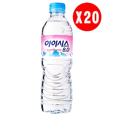 LOTTE樂天 礦泉水500mlx20瓶