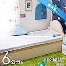 TENDAYS 太空幻象兒童護脊床墊 標準單人3尺 6cm厚