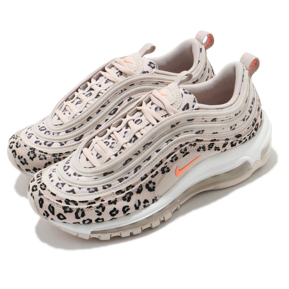 Nike 休閒鞋 Air Max 97 SE 運動 女鞋 經典款 氣墊 舒適 避震 豹紋 反光 卡其 黑 CW5595001