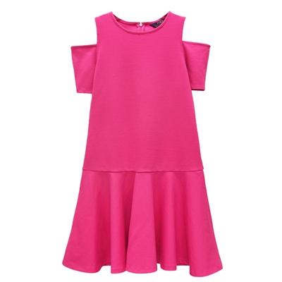 Ralph Lauren 大童露肩連身裙/洋裝-桃紅色(XL16歲)