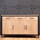 D&T德泰傢俱格萊斯原切木輕工業風4.5餐櫃-136.2x45.3x84.2cm