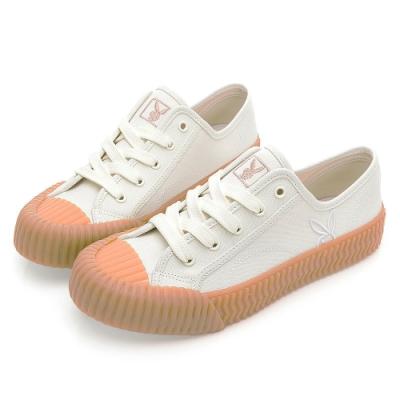 PLAYBOY 韓系casual 休閒帆布餅乾鞋-白-Y720311