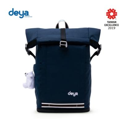 deya 海洋回收捲式機能淨灘背包-深藍