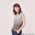 GIORDANO 女裝G-MOTION運動彈力短袖T恤-89 中花灰X標誌灰