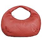 BV BOTTEGA VENETA 經典小羊皮編織肩背包(胭脂紅)