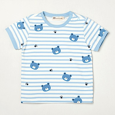 PIPPY 快樂小熊印花布上衣 藍