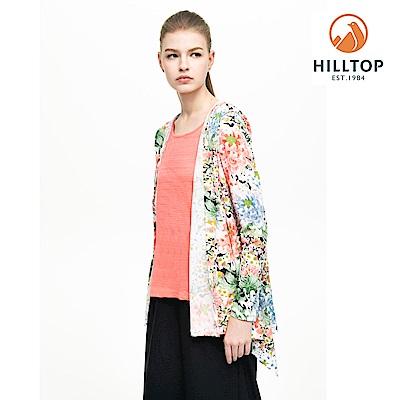 【hilltop山頂鳥】女款吸濕快乾抗UV針織外套S02FC8粉橘