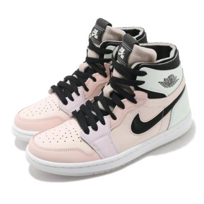 Nike 休閒鞋 W Air Jordan 1 復活節 男女鞋 Zoom Air CMFT 喬丹 拼接 綠 粉 CT0979101