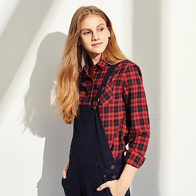 CACO-經典復古格襯衫-(兩色)-女【RAR035】