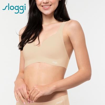 sloggi ZERO Feel Bralette零感系列無鋼圈圓V領背心式內衣S-EL濃醇花生醬 88-300 3L
