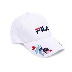 FILA 時尚LOGO帽-白 HTU-5207-WT