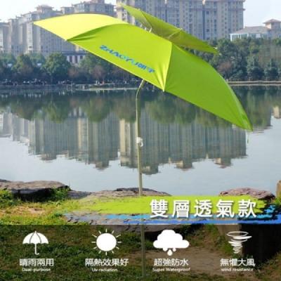 遮陽傘 雙層透氣 萬向傘 抗UV 釣魚傘 帶收納包 陽傘 釣具 雨傘 防紫外線