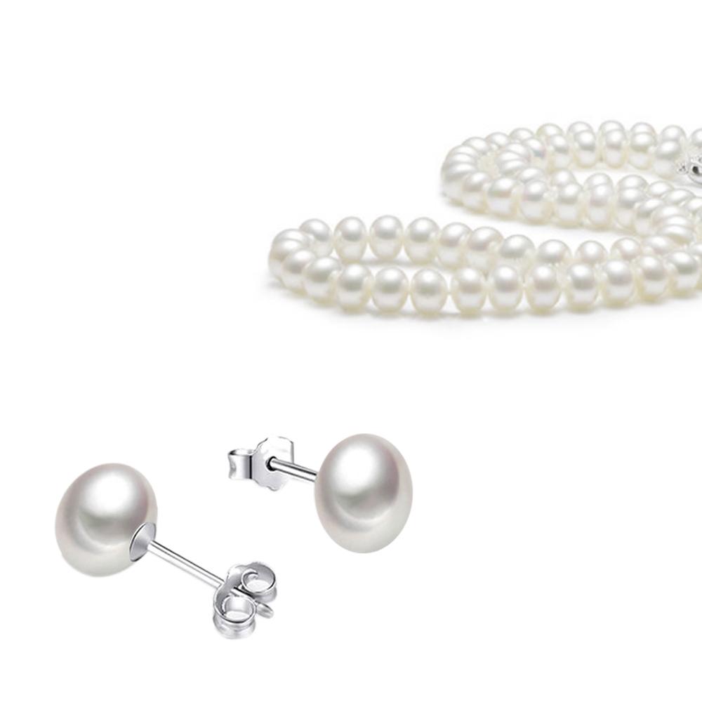 City Diamond引雅【超值系列】母親節限定下殺天然珍珠串鍊贈珍珠耳環
