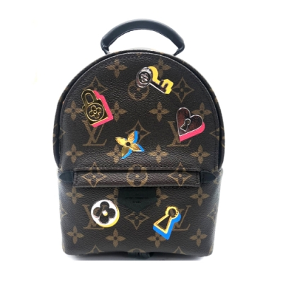 Louis Vuitton Love lock Palm Springs mini 斜背/後背包(M44367-咖)