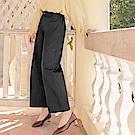 iMODA STAR-臧芮軒。純色高含棉腰封設計後腰鬆緊修身寬褲