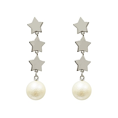 Prisme 美國時尚飾品 午夜時分 銀色耳環