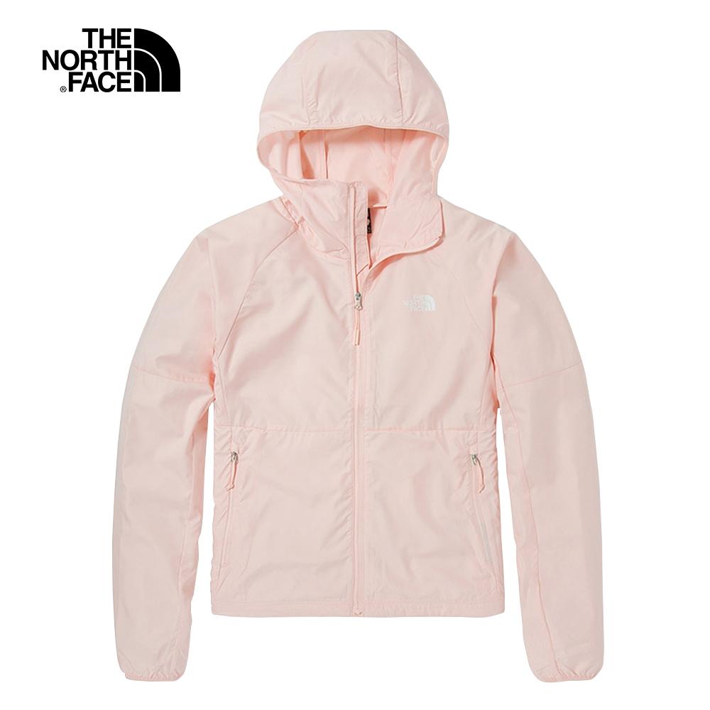 The North Face北面女款淺粉色防曬防潑水連帽防風外套 49B4WC6