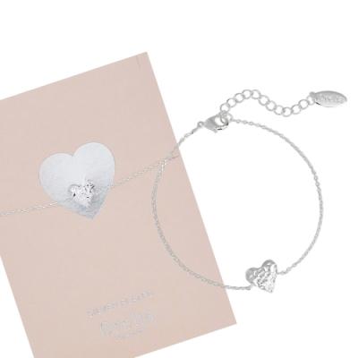 Orelia英國品牌 愛心銀錘銀色手鍊