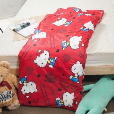 Hello kitty-愛心-紅 幼教加大兒童睡袋