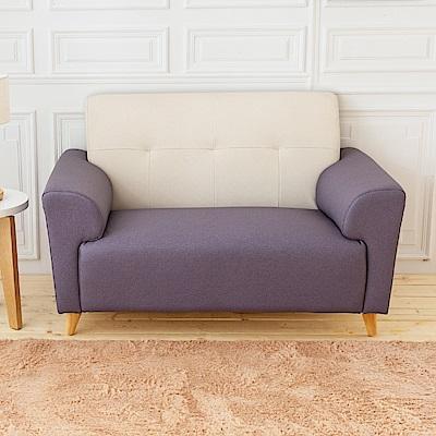 時尚屋 卡莉絲塔雙人座雙色透氣貓抓皮沙發 (共3色)