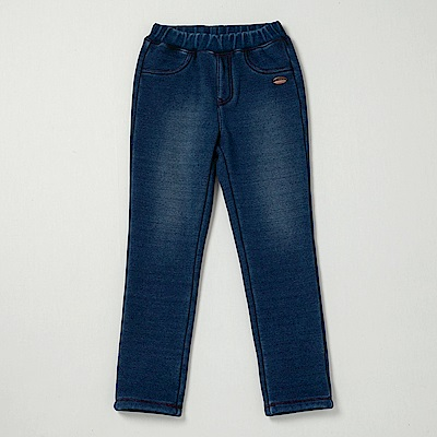 PIPPY 直筒內刷毛牛仔褲 深藍