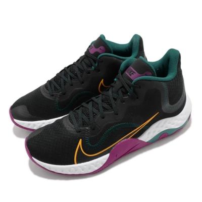 Nike 籃球鞋 Renew Elevate 運動 男鞋 避震 包覆 支撐穩定 球鞋 穿搭 黑 綠 CK2669005