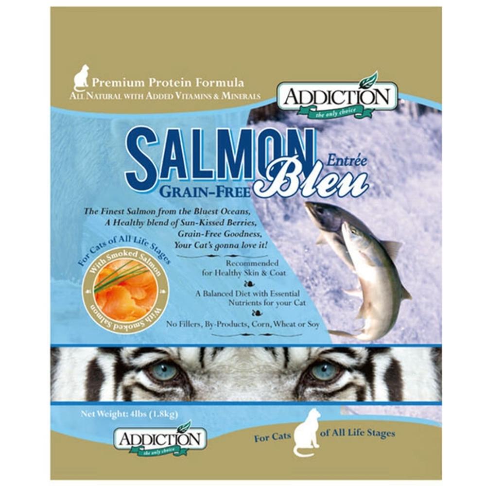 紐西蘭-ADDICTION自然癮食 野生藍鮭魚無穀貓寵食 1磅/454公克  兩包組