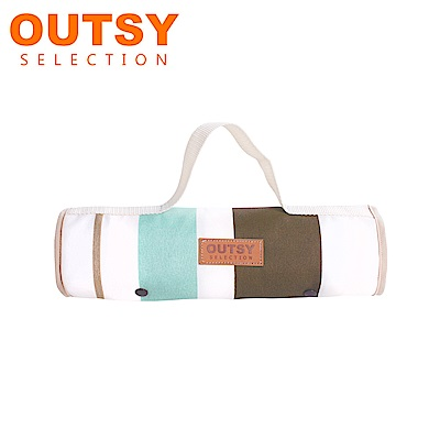 【OUTSY嚴選】限量款輕量條紋野餐墊 羅馬浴場