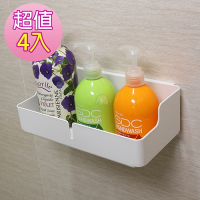 免釘免鑽無痕防水廚房衛浴收納置物架(4入)