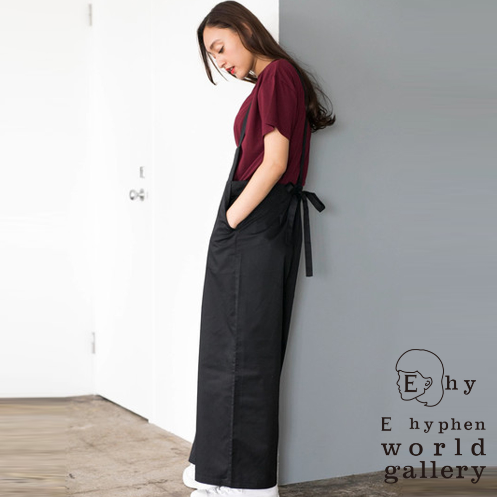 E hyphen 後腰綁帶造型連身吊帶褲 @ Y!購物