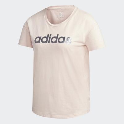 adidas 短袖上衣 運動 訓練 休閒 女款 粉 GL7804  GRAPHIC TEE