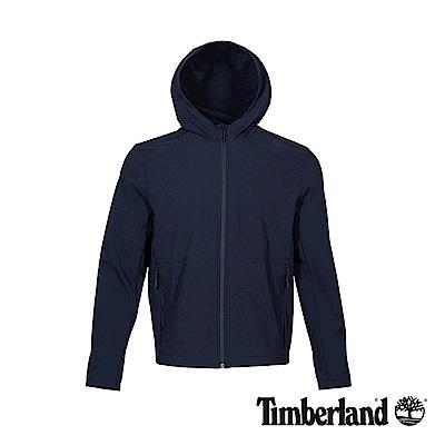 Timberland 男款深寶石藍色針織休閒連帽外套|A1OKJ