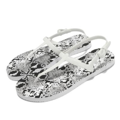 Puma 涼鞋 Cozy Sandal Untamed 女鞋 蛇紋 夏日 夾腳 穿搭推薦 透氣 白 黑 37521303